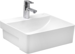 Cera White Ceramic Semi Recessed Wash Basins 1226 Basin
