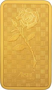 RSBL Precious Certified Ravishing Rose Design 24 (999) K 20 g Yellow Gold Bar
