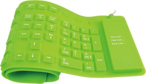 ROQ 109 Keys With Numeric Keys Silicone Rubber Waterproof Flexible Foldable Wired USB Laptop Keyboard