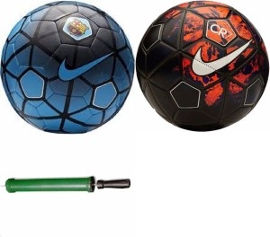 RSO High Quality DOMINATOR 2 Footballs With Air Pump - Size: 5, Diameter: 22.5 cm(Pack of 3, Multicolor) Football Kit