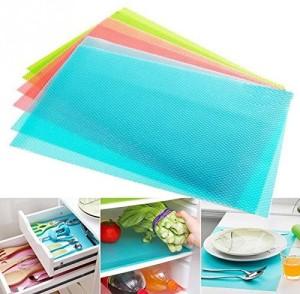 Yellow Weaves Plastic Generic Mat Refrigerator mats / Drawer Mats / Fridge Mats Pack of 6 pcs (