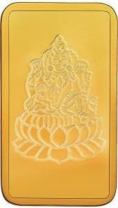 RSBL BIS Hallmarked Goddess Lakshmi Precious 24 (999) K 4 g Yellow Gold Bar