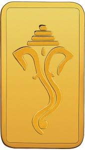 RSBL BIS Hallmarked Ganesh Head Design Precious 24 (999) K 10 g Yellow Gold Bar