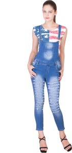 Catch My Style Women's Blue Dungaree