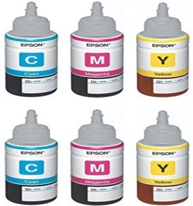 Epson Ink Tricolor Pack of 2 (T6642, T6643, T6644) Multi Color Ink