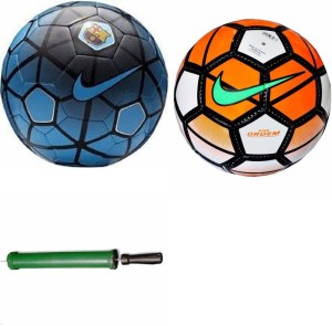 RSO High Quality Premier 2 Footballs With Air Pump - Size: 5, Diameter: 22.5 cm(Pack of 3, Multicolor) Football Kit