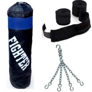 Fighter BLACK punching Bag combo2 Boxing Kit