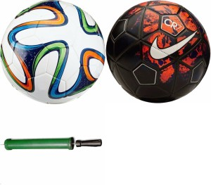RSO 32 Pannel International 2 balls With Air Pump Football -   Size: 5