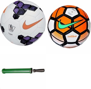 RSO High Quality STAR 2 Footballs With Air Pump - Size: 5, Diameter: 22.5 cm(Pack of 3, Multicolor) Football Kit