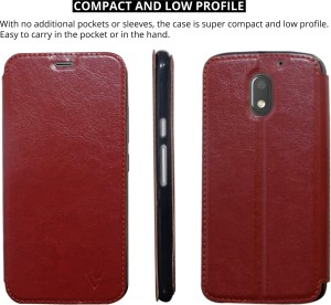 new concept 00bcf 64656 Ceego Flip Cover for Motorola Moto E3 PowerMocha Brown