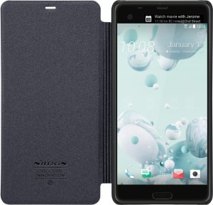 brand new d4549 5b8e3 Nillkin Flip Cover for HTC U Ultra Sparkle Leather Flip Folio PCBold Black