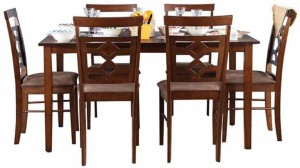 8b00b6fabb HomeTown Eva Engineered Wood 6 Seater Dining Set Finish Color Brown ...
