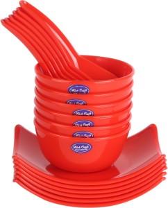 Richcraft Souper Douper Soup Bowl Set 18 pcs colorful (Red) Microfibre Bowl Set