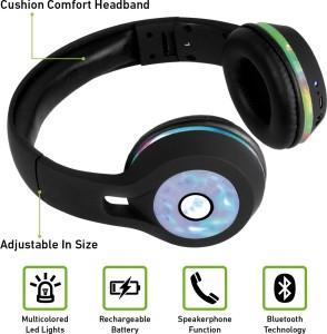 Soundlogic BTHP002S-BK Wired & Wireless bluetooth HeadphonesBlack, On the  Ear