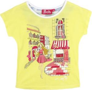 4d15bbccca3b9 Barbie Girls Graphic Print Polyeseter Viscose Blend T Shirt Yellow ...