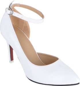 1f76a4a2dd2c Sherrif Shoes Women WHITE Heels Best Price in India