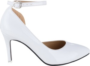 01cb439ae72 Sherrif Shoes Women WHITE Heels Best Price in India