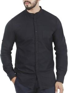 Aady Jones Men's Solid Casual Black Shirt