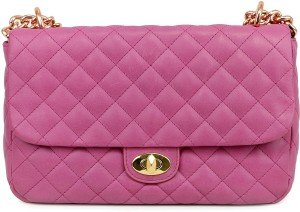 38b881888fe Da Milano Women Pink Genuine Leather Sling Bag Best Price in India ...
