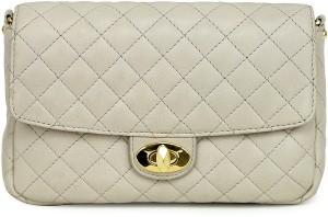 6248db4b460 Da Milano Women Beige Genuine Leather Sling Bag Best Price in India ...