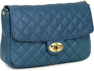 ee121109bb1 Da Milano Women Blue Genuine Leather Sling Bag Best Price in India ...