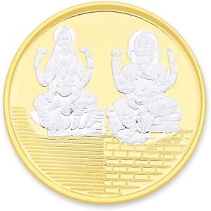 Taraash Gold Plated Lakshmiji with Ganesha S 999 10 g Silver Coin