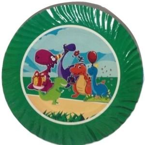 Funcart Funcart Barneys Dino Theme 9'' paper plates (10pcs) Plate