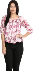 Mayra Party 3/4th Sleeve Solid Women's Multicolor Top