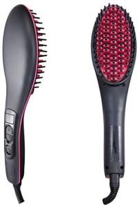 VibeX ™ Digital Anti Static Ceramic Heating Detangling Brush Paddle Brush For Faster Styling Simply Straight™ -Type-605 Hair Straightener