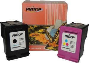 Pritop Pritop 802 XL One Inkjet Cartridge with USB for HP Deskjet 1000 (J110a) 1050 2000 (J210a) Office jet 2620 4630 printer Multi Color Ink