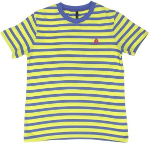 408a55b190 United Colors of Benetton Boys Striped Cotton T Shirt Yellow Pack of ...