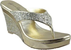 Olive Fashion Women Gold Heels