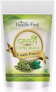 Health first Organic Green Coffee Beans -Decaffeinated Arabica Beans For Weight Loss 200 Grams Coffee Contains Chlorogenic Acid ( Gca / Cga )