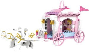 Saffire Girls Princess Horse Carriage Building Block Set