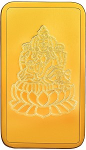 RSBL BIS Hallmarked Goddess Lakshmi Precious 24 (999) K 5 g Yellow Gold Bar