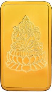 RSBL BIS Hallmarked Goddess Lakshmi Precious 24 (999) K 1 g Yellow Gold Bar