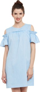 Miss Chase Women's Shift Light Blue Dress