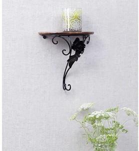 Onlineshoppee Wall Rack Bracket/Shelf Fancy Design Wooden Wall Shelf