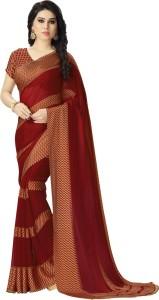 Saara Solid, Striped, Printed Fashion Satin, Georgette Saree
