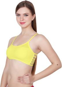 904a37bb01 Apraa Women s Girl s Bralette Sports Balconette Full Coverage Yellow Bra  Best Price in India