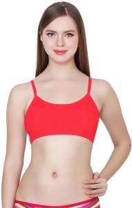9b095ed32f Apraa Women s Girl s Full Coverage Bralette Sports Balconette Red ...