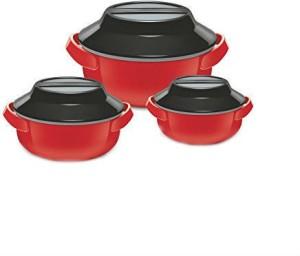 Shrih Microwave Safe Pack of 3 Casserole Set