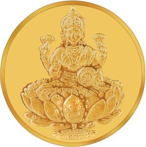 RSBL BIS Hallmarked Goddess Lakshmi Precious 24 (995) K 5 g Yellow Gold Coin