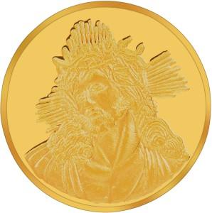 RSBL BIS Hallmarked Jesus 24 (995) K 10 g Yellow Gold Coin