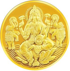 RSBL BIS Hallmarked Goddess Lakshmi Precious 24 (995) K 20 g Yellow Gold Coin
