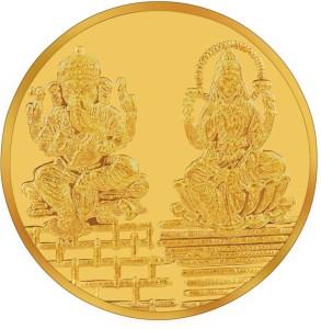 RSBL BIS Hallmarked Lakshmi & Ganesh Precious 24 (995) K 5 g Yellow Gold Coin