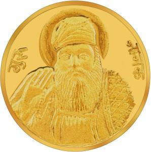 RSBL BIS Hallmarked Guru Nanak 24 (995) K 10 g Yellow Gold Coin