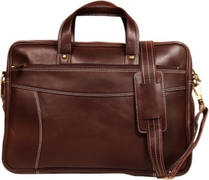 Leather World 15.6 inch Expandable Trolley Laptop Messenger Bag