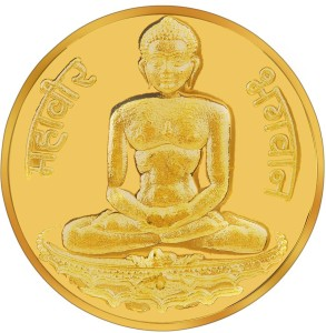 RSBL BIS Hallmarked Mahavir 24 (995) K 10 g Yellow Gold Coin
