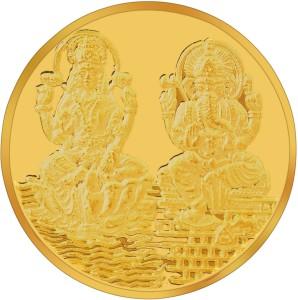 RSBL BIS Hallmarked Lakshmi & Ganesh Precious 24 (995) K 10 g Yellow Gold Coin